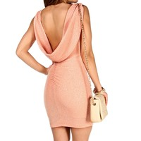 Sale-cowl Back Glittery Dress