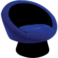 Saucer Chair, Black/Blue