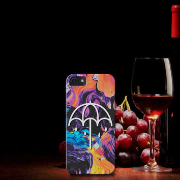 Design Custom Bring Me The Horizon That The Spirit Umbrella Oil Slick for Your Phone Device