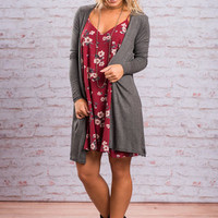 Keep It Cool Cardigan, Charcoal