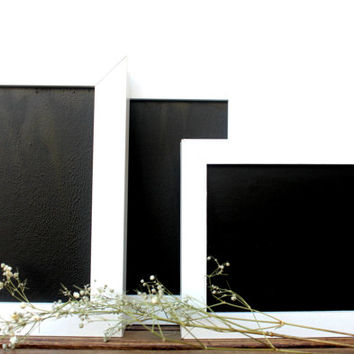 white wood framed chalkboard pack of three chalkboard weddings