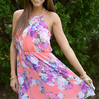 Hello Spring Dress, Pink/Purple