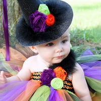 Witch Tutu Dress, witch tutu, Halloween, Costume, Pageant, orange, lime, green, purple, black, Birthday, baby girl, infant, toddler