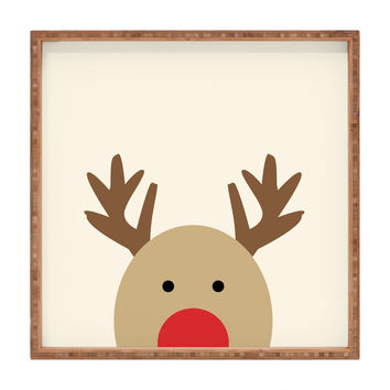 Allyson Johnson Reindeer Square Tray