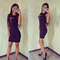 Fashion Summer Dress Sexy  Women NightClub Dress Casual Party Bodycon Pencil Sheath Dress