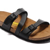 Birkenstock Women Black Casual Sandals Flip Flops