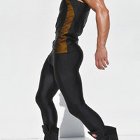 s Joggers Spliced Tight Ankle Sweatpants Spandex boxing Tights Sports Leggings Fitness  Skinny Joggers Sport