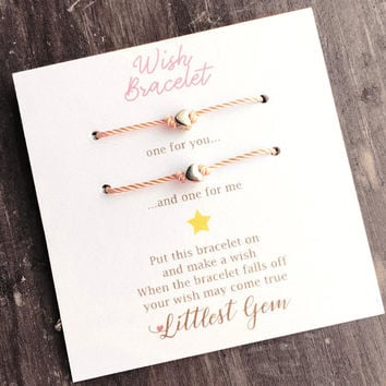 Couples Bracelet, Matching Bracelets, Best Friend Gift, Friendship Bracelet, Wish Bracelet, Girlfriend Gift