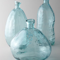 Turquoise Glass Vases