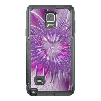 Pink Flower Passion Abstract Fractal Art OtterBox Samsung Note 4 Case