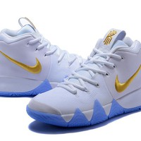Best Deal Online Nike Kyrie 4 Ivring White Gold Men Sneakers