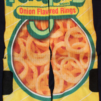 Funyuns Are Awesome Custom Nike Elite Socks