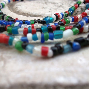 Multi-color matte Murano glass beads from Venice, Italy