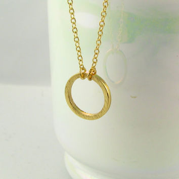 Open Circle Necklace / 18 Gold Filled or Sterling Silver Necklace / Gold Minimal Jewelry / Simple Everyday Bracelet