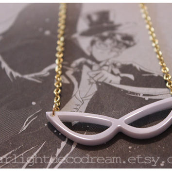 TUXEDO MASK Sailor Moon Inspired Acrylic Charm Necklace for Mahou Kei & Magical Girl Fashion