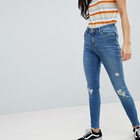 New Look Ripped Skinny Frayed Shaper Jean at asos.com
