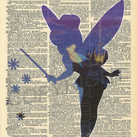 Peter Pan Tinkerbell Dictionary Art Print