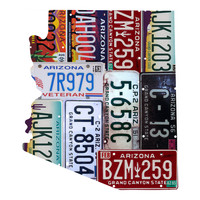 Arizona License Plate wall decal