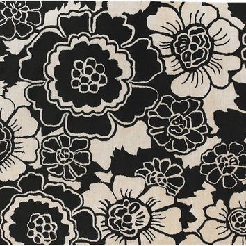 Faroh Hand-Tufted New Zealand Wool Area Rug in Black & White design by Chandra rugs