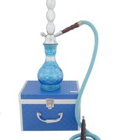 "New Light Blue 18"" Hookah with Briefcase"