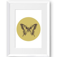 Butterfly, Nature, Minimal, Beauty, Line art, Home Decor, Simplicity, Scandinavian Print, Printables, Digital Print