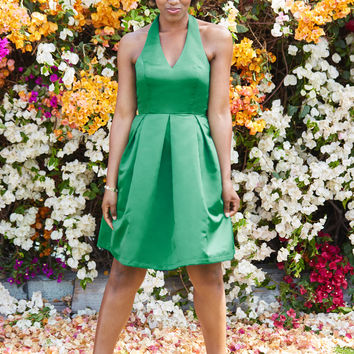 A Sight to Remember Fit and Flare Dress in Emerald | Mod Retro Vintage Dresses | ModCloth.com
