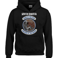 SOUTH DAKOTA Home Of The Free Because Of The Brave - Hoodie