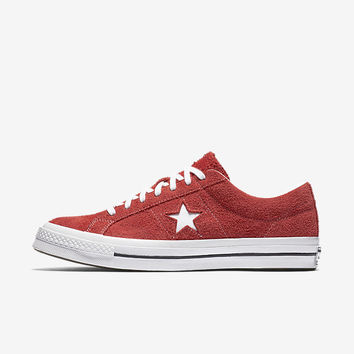 The Converse One Star Premium Suede Low Top Unisex Shoe.
