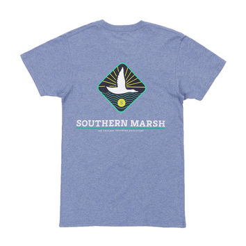 Branding Collection - Flying Duck Tee in Washed Slate by Southern Marsh