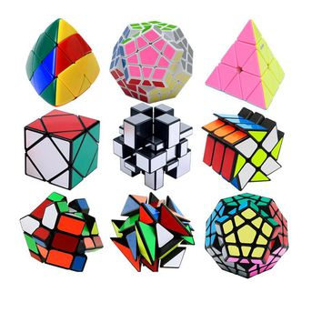 Professional 3x3x3 Magic Mirror Skew Cube Magic Pyraminx Puzzle Speed Cube Learning Education Toys For Children Magic Cube