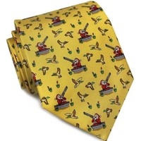 Crack Shot Kringle Tie in Gold by Bird Dog Bay