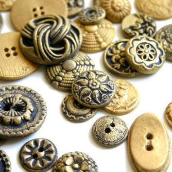 Edible Chocolate Candy Brass Buttons by andiespecialtysweets