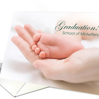 Graduation from School of Midwifery Announcement card