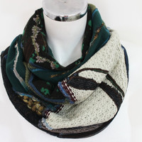 Handmade men scarf, Green black gray scarf, World-toned scarf, Scarf Unique Christmas Gifts for Men, Design scarf, Winter scarf Unisex