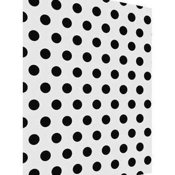 Black Polka Dots on White Matte Poster Print Portrait - Choose Size by TooLoud