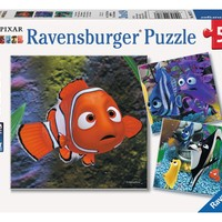Disney Pixar Finding Nemo - In the Aquarium - (3 x 49) Piece Jigsaw Puzzles
