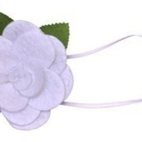 Baby Flower Headband. Stretchy for Infant, Toddler, Girl. Skinny Headband. Felt Rose Allie. $10.99