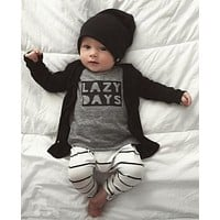 New 2016 autumn baby boy clothes fashion cotton long sleeved letter t-shirt+pants newborn 2pcs suit cute baby girl clothing set
