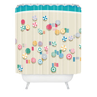 Nicole Martinez Beach For The Birds Shower Curtain