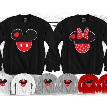 "Cartoon faces ""Cute Couples Matching Crewnecks"""