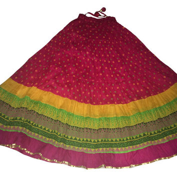 Long maxi skirt Gypsy skirt Indian Bollywood Skirt Ethnic Skirt Indian Skirt border party wear