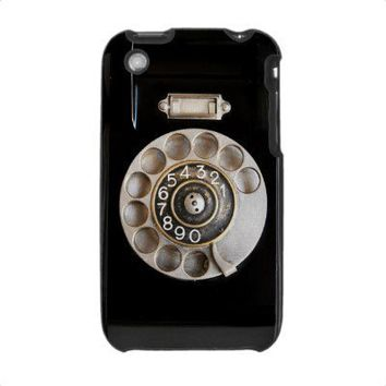 Vintage Rotary Phone iPhone 3 Case from Zazzle.com