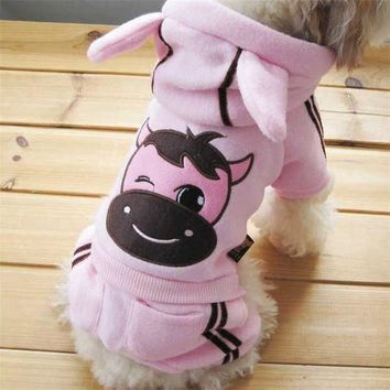 DCCKH6B Hot Selling Dog Cartoon Clothes Soft Winter Warm Pet  Cozy Snowflake Dog Costume Clothing Jacket Teddy Hoodie Coat