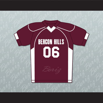 Danny Mahealani 06 Beacon Hills Cyclones Lacrosse Jersey Teen Wolf TV Series New