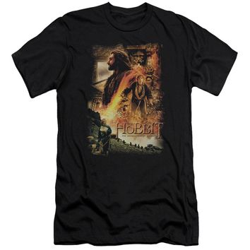 Hobbit - Golden Chamber Premium Canvas Adult Slim Fit 30/1 Shirt Officially Licensed T-Shirt