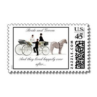 And they lived happily ever after Postage Stamp from Zazzle.com
