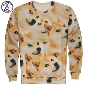 Mr.1991INC Newest style 3D funny DOGE hoodies men/Women sweatshirt o-neck Long sleeve pullovers size S M L XL