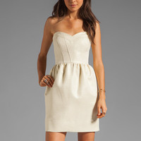 Shoshanna Tristen Dress in Gold from REVOLVEclothing.com