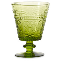 Provenzale Water Goblet, Green, Tumblers, Water & Juice
