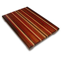 Handmade Large Wood Cutting Board - The Crowd Pleaser - Black Walnut & Lacewood